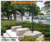 Stainless steel flagpole